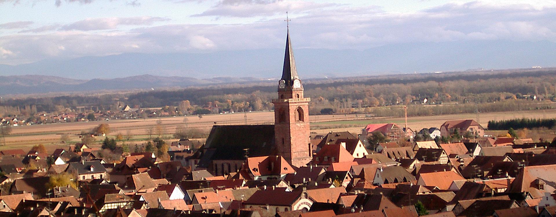 (Français) Vue de Bergheim